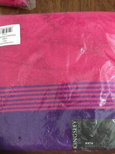 Fandango Pink/purple Hand Towel Kingsley New 100% Cotton Luxury