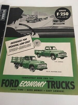 1953 Ford F-250 Series Truck Brochure USA Original for sale  Shipping to United Kingdom
