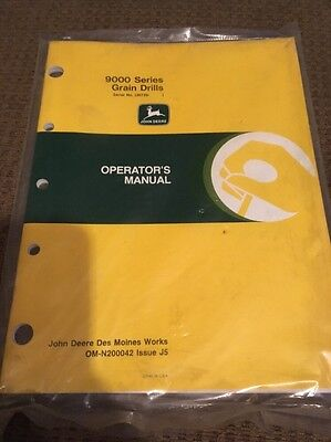 John Deere 9000 Series Grain Drills Operators Manual Om-n200042 Nos