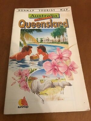 Sunmap Tourist Map - Australia Featuring Queensland