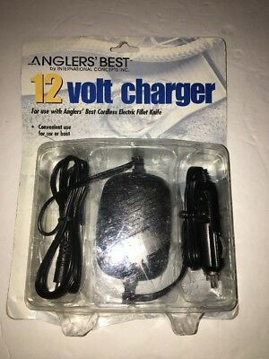 Anglers' Best 12 Volt Charger-For Anglers' Best Cordless Electric Fillet (Best Fishing Fillet Knife)