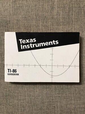Texas Instruments TI-86 Guidebook Manual Book