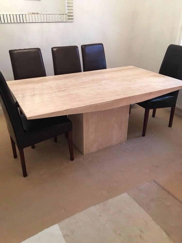 Bon Travertine Natural Stone Dining Table 170cm X 100cm