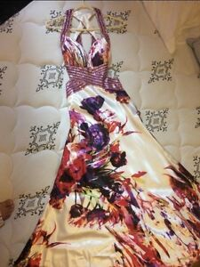 Grad Dress/Gown (Prom Dress) - Floral, Pink/Purple