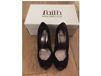 Faith peep toe heels size 3