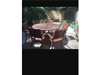 Almeria 6 seather garden furniture set