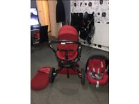 Quinny modd buggy with car seat and accessories