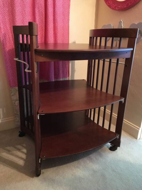 Stokke Walnut Changing Table Small Desk