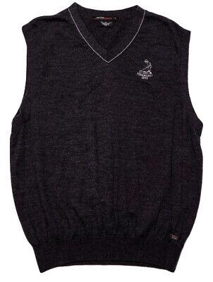 NIKE GOLF Tiger Woods Collection Wool Sweater Vest Pinehurst 1895 Gray Medium M