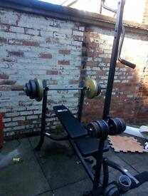 Weight training bench excellent condition
