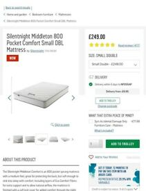 BNIP Small double Silent night mattress.
