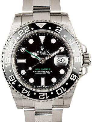 Rolex GMT-Master II Steel Ceramic Black/Green 40mm Watch 116710