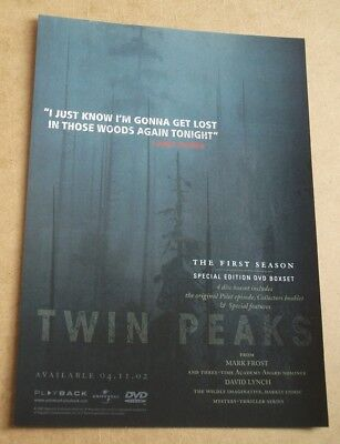 TWIN PEAKS - The First Season - Magazine  ADVERT 29 x 21 cm