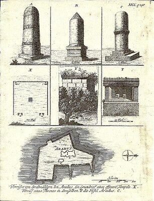 Antique engraving, Insel Aradus P XXX