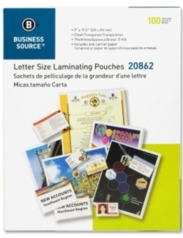 """300 Letter Laminating Pouches 9"""" x 11.5"""" Laminator 5 Mil BSN 20862"""
