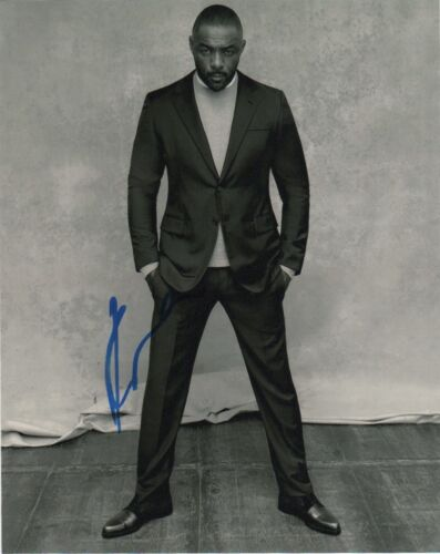 Idris Elba Luther Autographed Signed 8x10 Photo COA