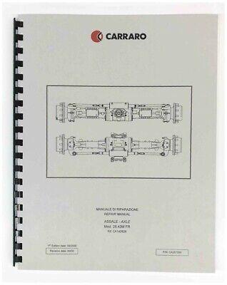 Carraro Model 26.43m 10k Front Axle Repair Manual Pettibone Forklift