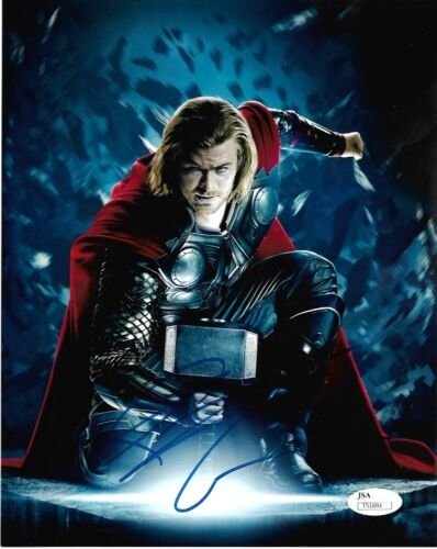 Chris Hemsworth Thor Autographed Signed 8x10 Photo JSA COA #6
