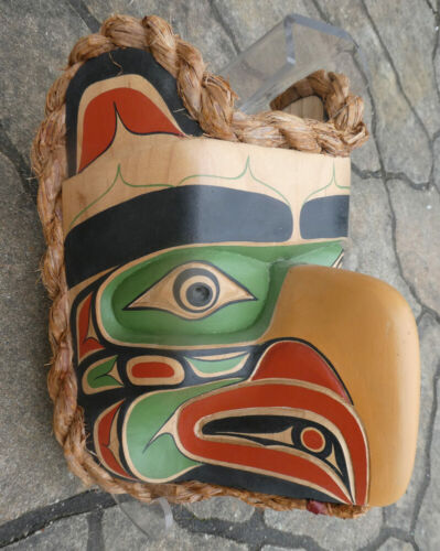 "Northwest Coast Artist Janice Morin ""Kooloos"" Mask Gallery Quality Signed"