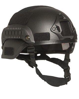 US Gefechtshelm MICH 2000 W/Rail schwarz, Helm, Einsatzhelm           -NEU-