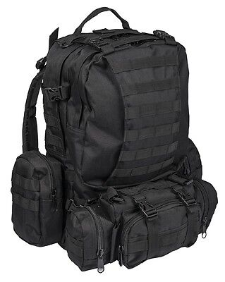Defense Pack Assembly schwarz, Rucksack, Camping, Outdoor, Military    -NEU-