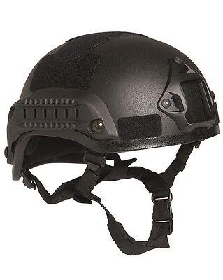US Gefechtshelm MICH 2001 W/Rail schwarz, Helm, Einsatzhelm           -NEU-