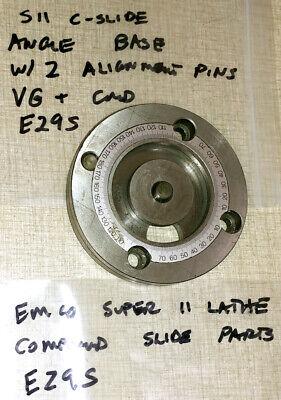 Emco Maximat Super 11 Lathe Compound Slide Parts Angle Base E29s