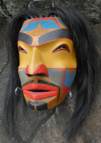 Northwest Coast Vintage Ghost Mask Gallery Quality Horse Hair Aboriginal Art