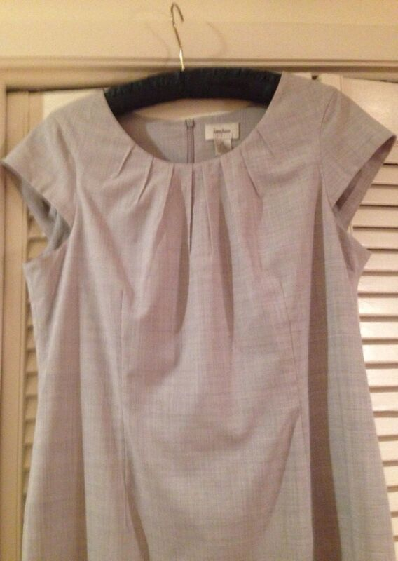 Neiman Marcus Exclusive Dress Sz 12 sand color capped sleeves Pristine lined