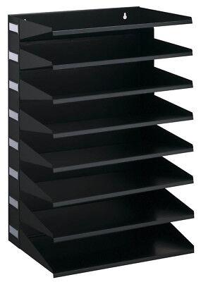 Sortierreck 8-tlg. schwarz Metall A4 Dokumenten Ablage Briefablage Sortierablage