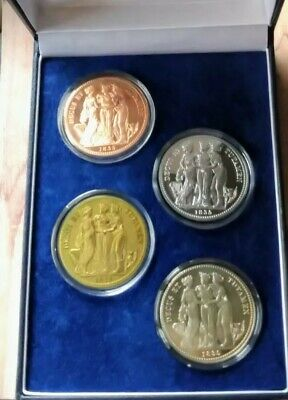The Three Graces William Wyon 4 coin collection boxed with coa