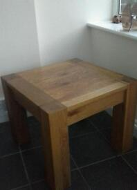 Solid oak coffee table / table