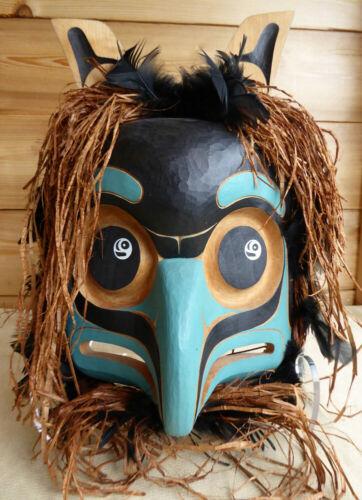 Northwest Coast Qulos Mask Signed Wayne Alfred Canada First Nations Art