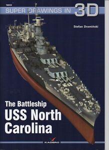 The Battleship USS North Carolina - Super Drawings in 3D - Kagero ENGLISH - Reda, Polska - Zwroty są przyjmowane - Reda, Polska