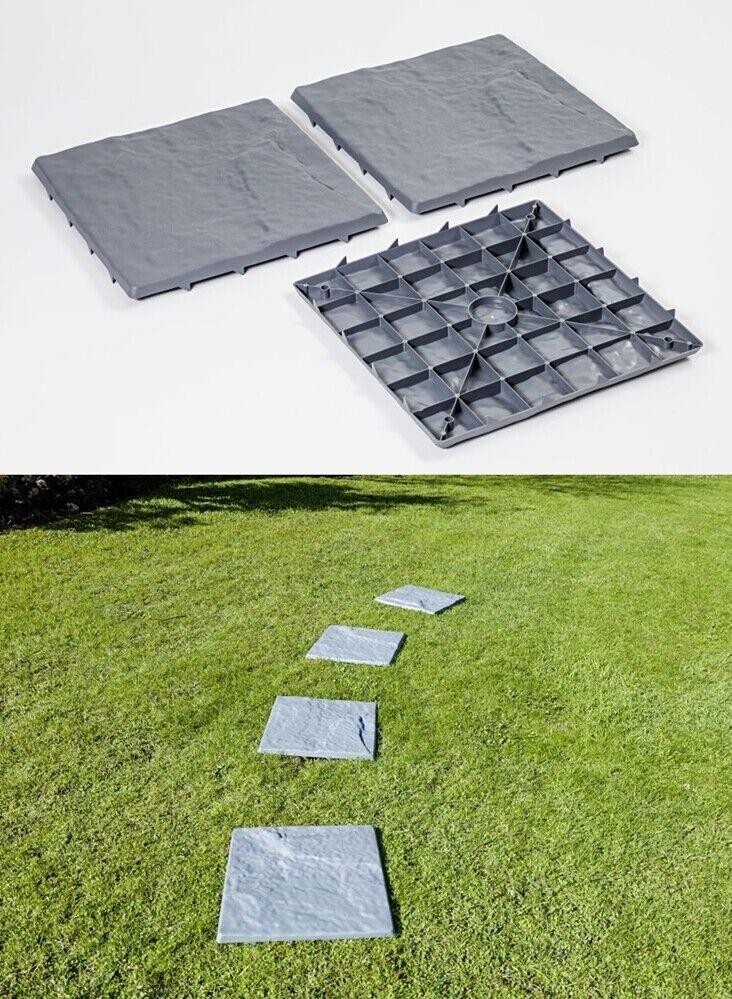 8 Stück Gartenplatten Gartenweg Steinoptik Bodenplatten Wegplatten Beetplatten