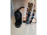 Krups nespresso machine with pods and holder £65 ono