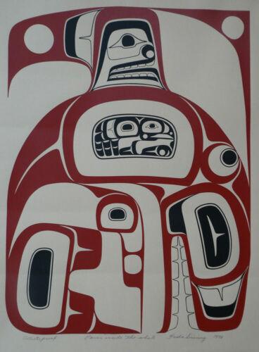 Northwest Coast Coast Haida Artist Freda Diesing Artist Proof 1978 Native Art
