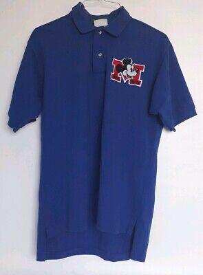 f45f5708 Walt Disney Medium Mickey Mouse Golf Men's Polo Shirt USA Blue Single  Stitch for sale San