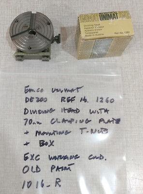 Emco Unimat Db200 Sl1000 Lathe Dividing Head No. 1260 Clamping Plate 1016r