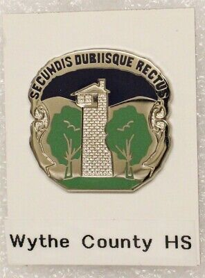 Army ROTC DI Pin: Wythe County High School (Wytheville, VA) - c/b, W30