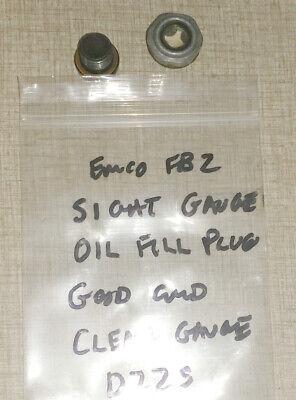 Emco Fb-2 Mill Drill Super 11 Lathe Parts Oil Sight Gauge Oil Plug D22s