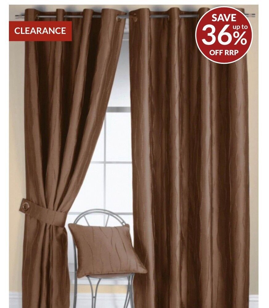 JAZZ EYELET CURTAINS BY RECTELLA 90inchesx84 inches drop