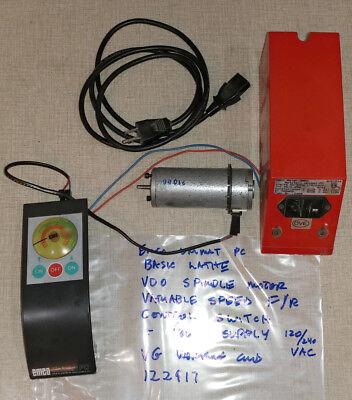Emco Unimat Basic Pc Lathe Spindle Motor Power Supply Speed Control 122917