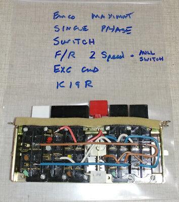 Emco Maximat V10-p Lathe 2 Speed Fr Switch K19r