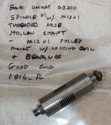 Emco Unimat Db200 Sl1000 Lathe Head Stock Spindle M12 X 1 1 1016r