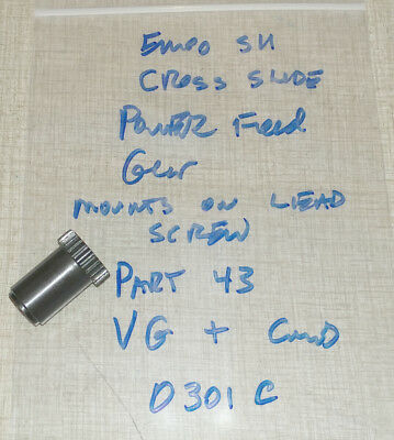 Emco Maximat Super 11 Lathe Cross Slide Parts Power Feed Gear 0301c