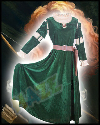Brave Merida Prinzessin Kostüm Cosplay Adult Dress Outfit Damen Anzug Halloween