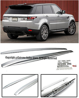 For 14-Up Range Rover Sport Silver Side Roof Rail Cross Bar Top Luggage Carrier