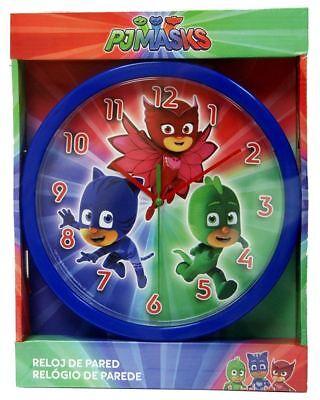 Disney Pj Masks Catboy Owelette Gekko Wall Clock Blue Home Bedroom Gift