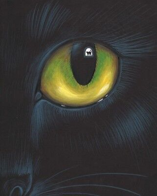 8x10 PRINT OF PAINTING HALLOWEEN BLACK CAT RYTA PORTRAIT WITCH VINTAGE STYLE ART](Vintage Halloween Portraits)